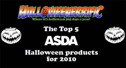 Top 5 Asda Halloween products for 2010