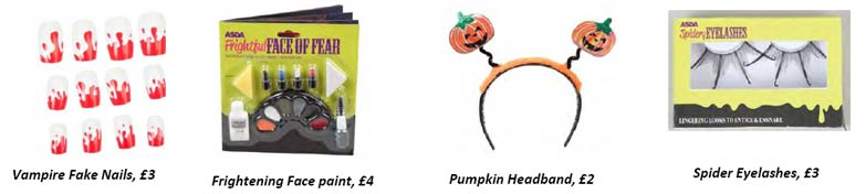Asda halloween makeup